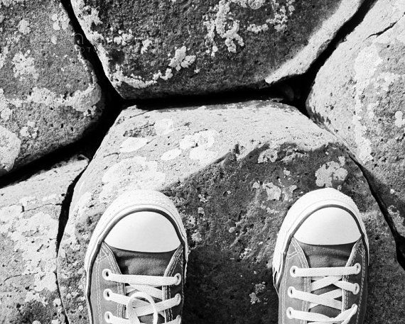 Black and White Photography  Converse at the by JudithKimberPhoto
