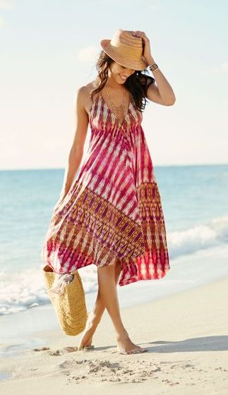Super cute sundress  fedora; love this look for summer