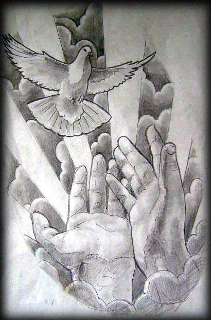 Tatuagens Mãos com terço e Oração   Leles Tattoo