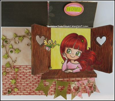 Scrap por todos lados: Card in a box para el reto de Alicia Bel
