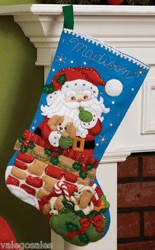 Bucilla #Felt #Applique #Embroidery SANTA'S SECRET #Stocking ♥  #ebay #sale…