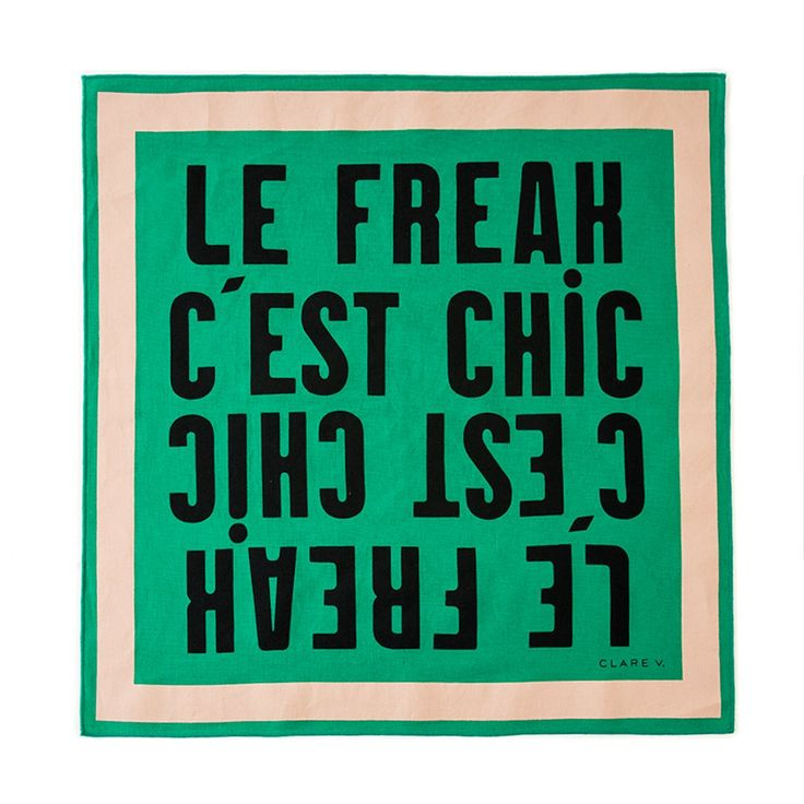 """The Bandana is the perfect unisex accessory.""""Le Freak C'est Chic"""" is a nod to the playful French saying for which Clare V. is known. We love that we could mi"""