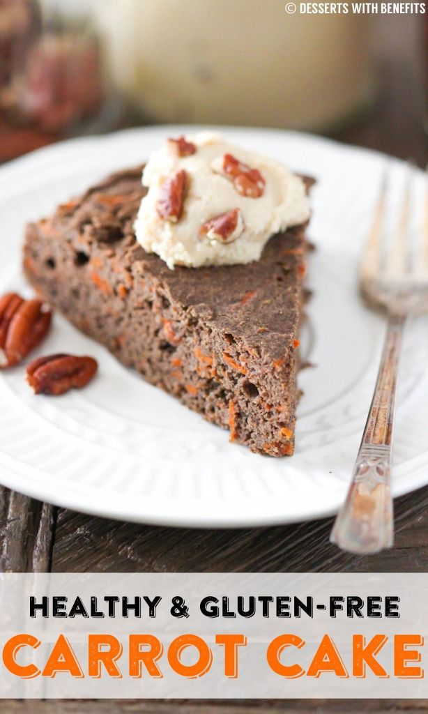 Super Moist 90-calorie Gluten-Free Carrot Cake — soft, sweet and packed with flavor, you'd never know it's missing the oil and sugar! [sugar free, low fat, high fiber, gluten free, vegan]