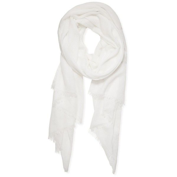 Calvin Klein Women's Cashmere Dobby Scarf (9 830 UAH) ❤ liked on Polyvore featuring accessories, scarves, white, calvin klein, white shawl, cashmere shawl, calvin klein scarves and cashmere scarves