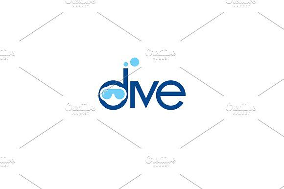 Dive Templates Unusual Logo template isolated on a white backgroundVector files, fully editable. Includes AI CS by Steinar Logo