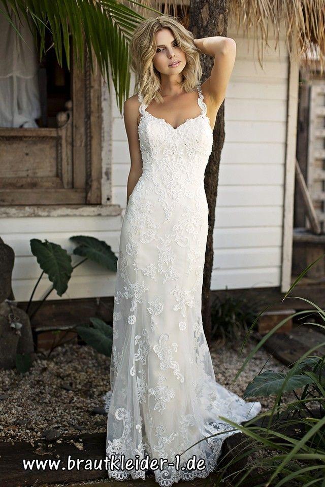 Träger Brautkleid 2018 mit Spitze   Wedding Style   Pinterest ...