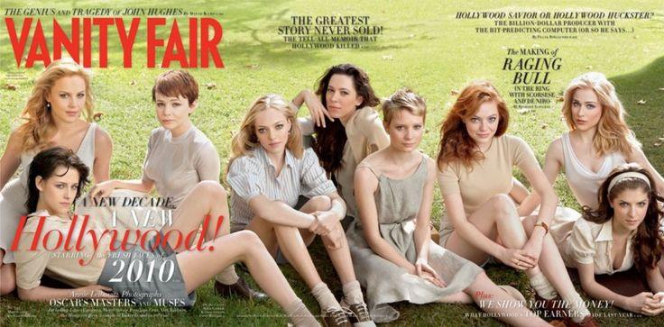 2010  From left: Abbie Cornish, Kristen Stewart, Carey Mulligan, Amanda Seyfried, Rebecca Hall, Mia Wasikowska, Emma Stone, Evan Rachel Wood, and Anna Kendrick.