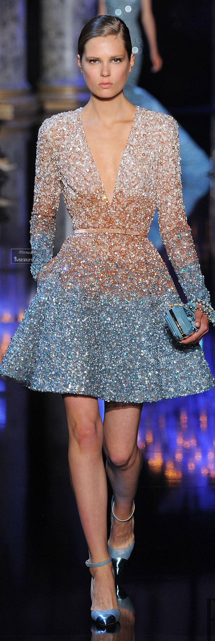 Elie Saab Fall-winter 2014-2015. Dress - Haute Couture - Vestido- Alta Costura                                                                                                                                                      Más