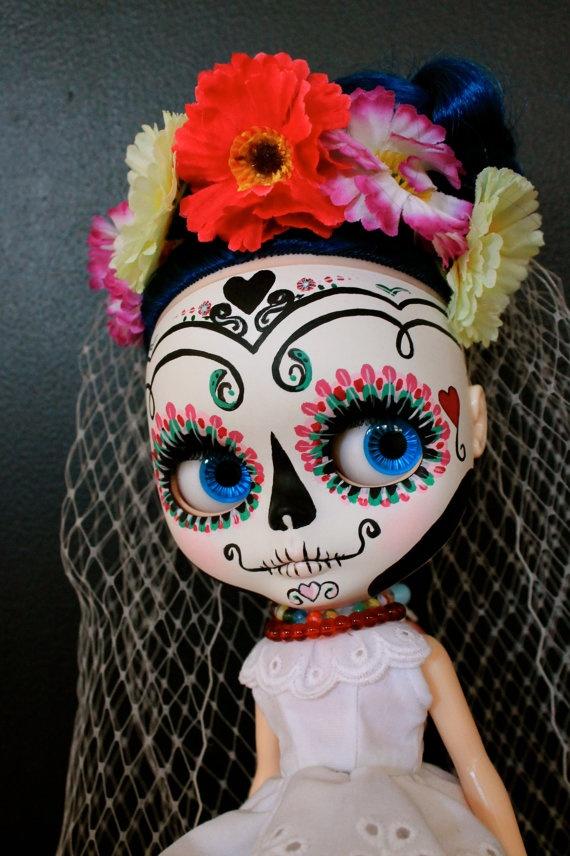 Candy a Sugar Skull Blythe Art Doll by aniO