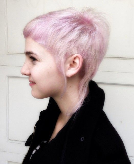 Cool Short Pixie Haircut for Purple Hair