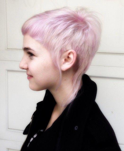 Cool Short Pixie Haircut for Purple Hair