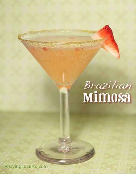 Take your #brunch to on the beaches of #Brazil with these Brazilian #Mimosas!