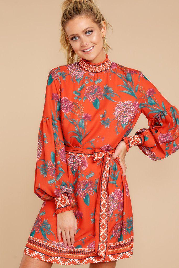 5f766e2d1de Stylish Red Floral Dress - Chic Floral Print Dress - Short Dress -  44 – Red  Dress Boutique