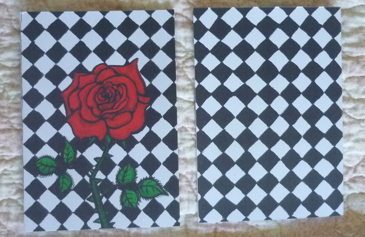 Gothic Rose Greeting Card Gift