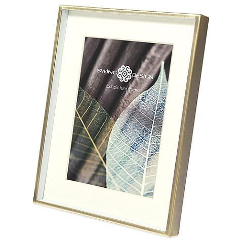 Swing Design™ Brass Deep Picture Frame 5x7 $16.99
