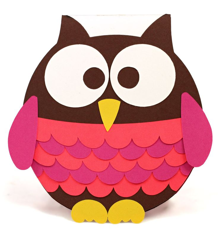'Owl Miss You' Shaped Card -- Cutting File and Instructions available in Pazzles Craft Room