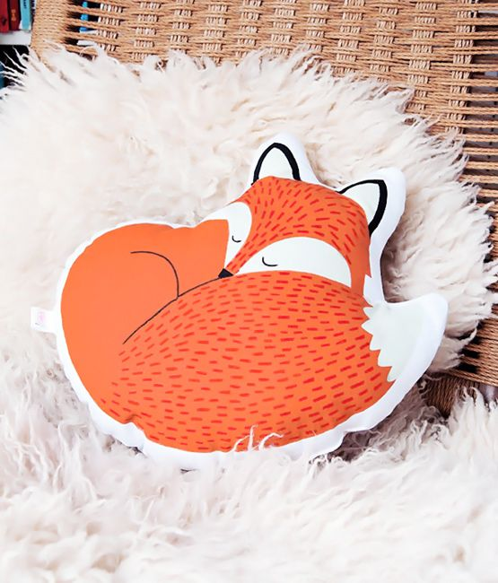 Cushion Rusty the fox / Coussin Rusty le renard - Bird on the wire  www.botw.fr