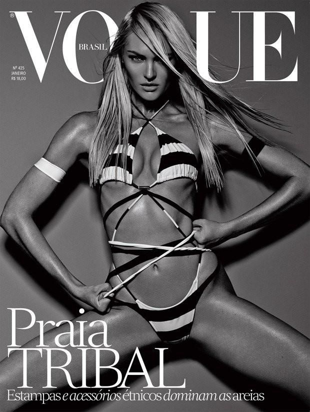 Vogue Brasil - Vogue Brasil January 2014 Cover  #CandiceSwanepoel