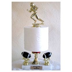 Fantasy Football Toilet Paper Trophies SKU #: HA104  Trophypartner.com  For one pooper of a season!!!  This trophy can be done in a variety of sports/activities (Football shown) and is great for Fantasy Sports Losers or a good humored coach.