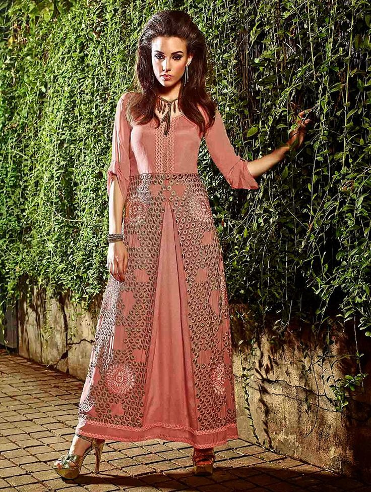 Glorious Pink Exclusive Readymade Designer Kurti