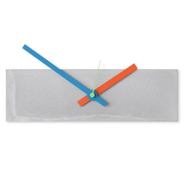 Uhren - Betonuhr Wanduhr Brick2 -Einzelstück mit Risse - ein Designerstück von D-Kraehmer bei DaWanda