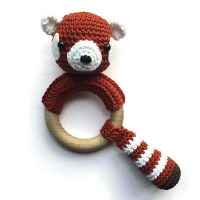 Rammelaar Rode Panda Haken Bijtring Pinterest