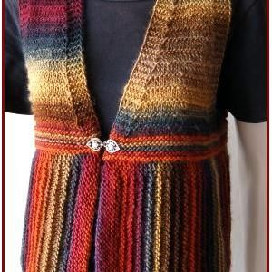 Easy Knitted Vest Pattern Free   Las' Vests Knitting Patterns – Planet Purl