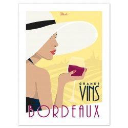 """Affiche Bordeaux """"Grands Vins Bordeaux"""""""