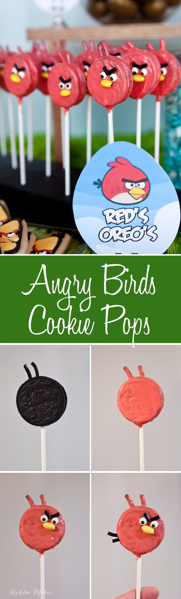 an easy tutorial for making your own oreo pop angry bird, this one is for Red but you can use the same techniques to make any of the birds
