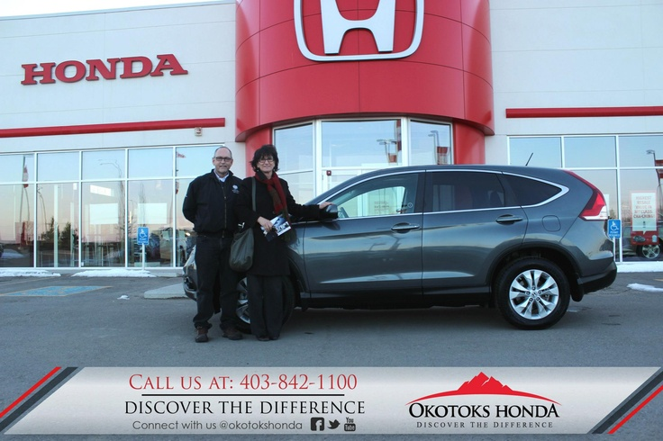 The Leonard Family and their Honda CRV - thanks to Kerry Arnold Lewis. Welcome to the OH Family! Call Okotoks Honda at 403.842.1100 for your any of your vehicle or service maintenance needs.