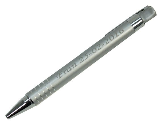 Bolígrafo metálico grabado