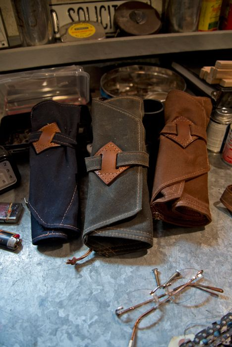 Red Clouds Collective, who manufacture leather and canvas goods, have the spirit and industriousness that attracts both the eye and heart of us designers.