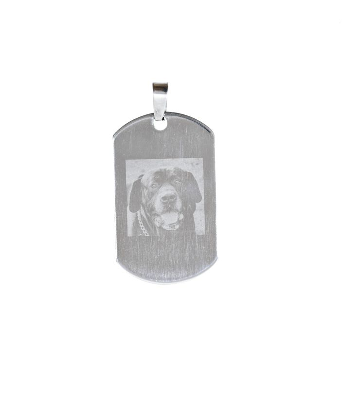 A Dog tag with YOUR photo engraved on to this special piece.  Available in sterling silver, stainless steel or costume jewellery.  Call me on 0402 765 525 or  http://www.memorykeepsakes.com.au/ #photography #3121 #smallbusiness #photoengraving #memorykeepsake #love #pets #ilovemydog #memorial #petmemorial