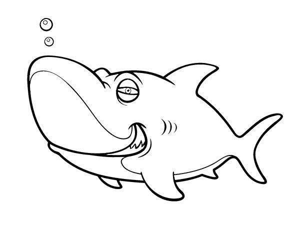 Dibujo de Tiburón tigre para colorear
