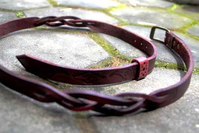 Leather handmade feminine belt - 1 day kaula workshop