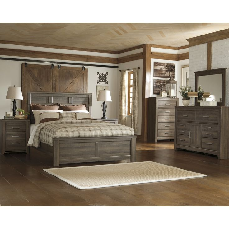 Pin By Ashley Towner On Bedroom Ideas: Signature Design By Ashley Juararo Dark Brown Panel Bed