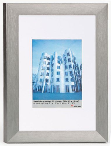 Bilderrahmen von Walther Alurahmen Aluline 10x15 stahl - Normalglas 2er Pack - http://kameras-kaufen.de/walther/10x15-walther-al520s-aluline-aluminiumrahmen-15-4