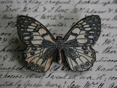 Laser cut brooches by Naomi Graves