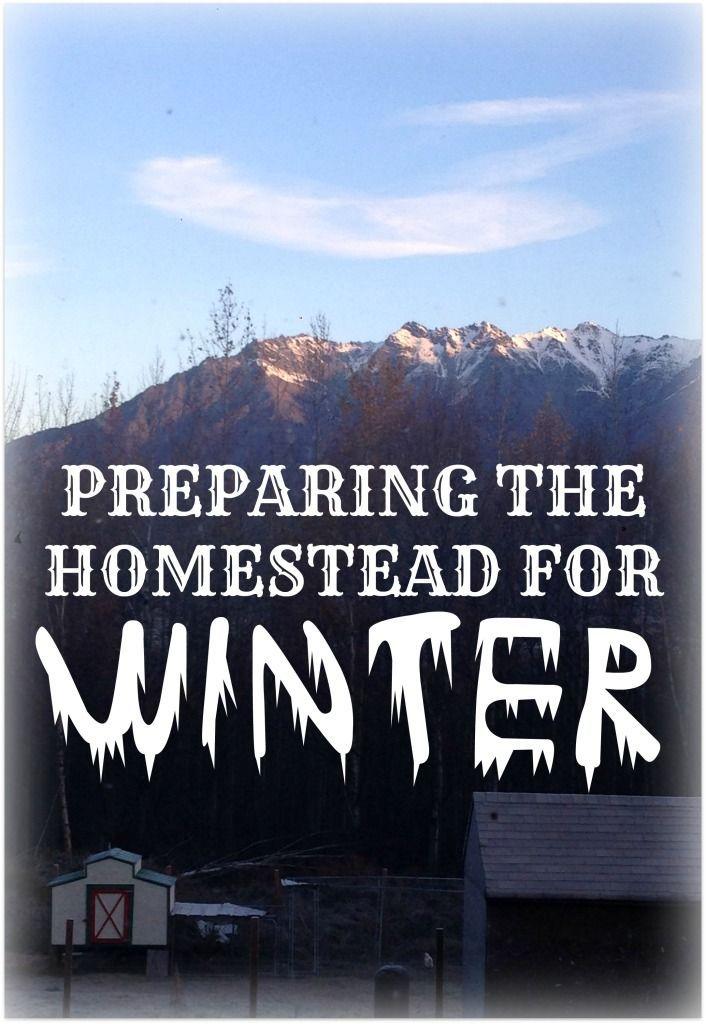Preparing the Homestead for Winter - IdlewildAlaska