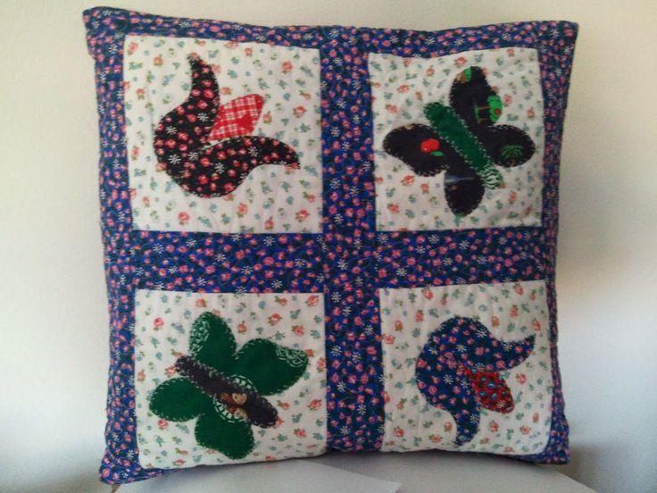 hobby e passioni racchiusi nel mio cassetto: Cuscino in patchwork con applicazioni - Patchwork ...