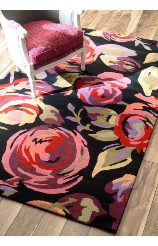 Rugs usa prescott floral tu49 pink rug rugs usa columbus for Bright floral area rugs
