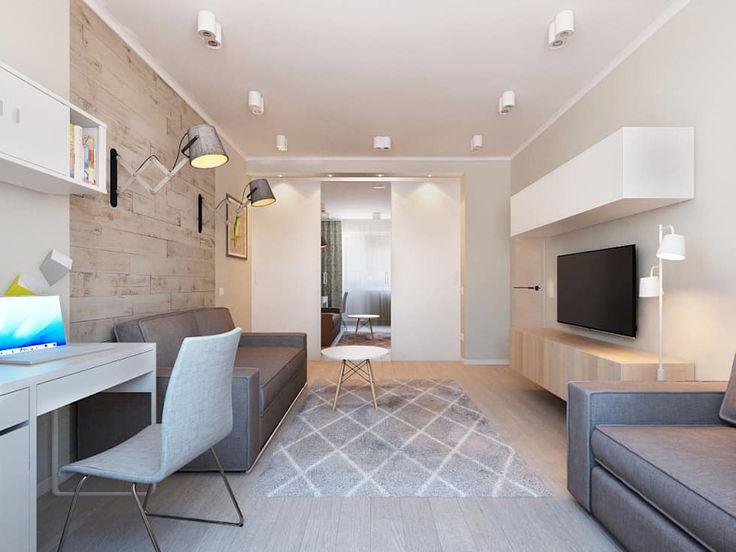 Salas de estar escandinavas por Ekaterina Donde Design