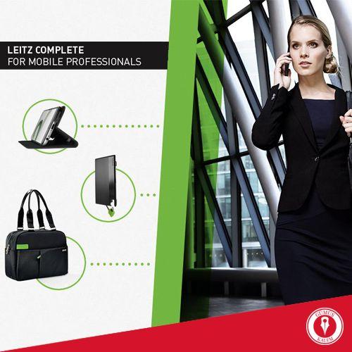 İş yaptığınız şeydir, gittiğiniz yer değil... Uçaklar, trenler, ofisler ve kafeler; Leitz'ın Complete serisiyle tüm araçlar sizinle! Stil sahibi tasarım ve öne çıkan fonksiyonellik. Her detayda business class. www.gumuskalem.com.tr