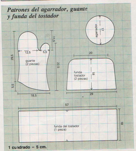 El costurero de Stella: Patrones de un agarrador, guante y funda para un tostador