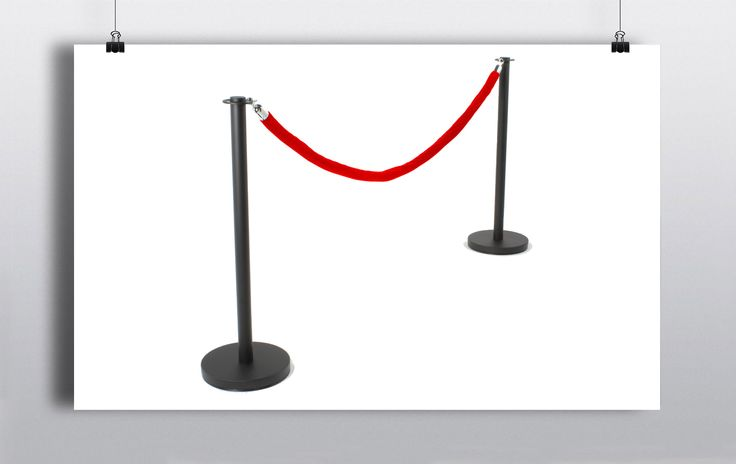 Polished chrome metal posts are hooked together with high quality braided rope to create an efficient barrier system. http://www.prophouse.ie/portfolio/pillars-rope-2/