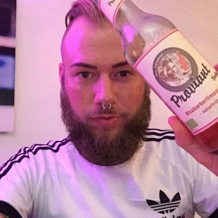 #gay #gayboy #gayhot #gayguy #gaylife #instagay #gaystagram #instahomo #beard #beards #bearded #beardedgay #beardporn #beardgrooming #beardstyle #beardlife #beardgang #followme #septum #eyebrows #saturday #nightout #doubletap #friends #proviant #berlin #proviantberlin #adidas #3stripes by alexanderst87