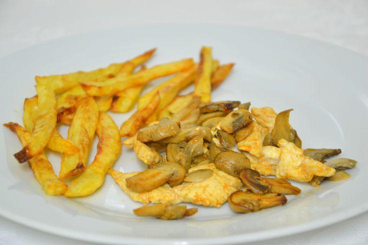 Batatas 'fritas' no forno e uma consulta (parte 1) :)
