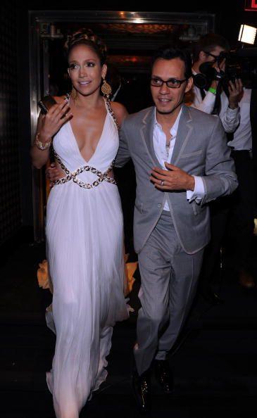 Marc Anthony and Jennifer Lopez attend Jennifer Lopez's Surprise Birthday Party at the Edison Ballroom on July 25, 2009 in New York City