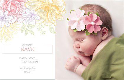 Design for Invitasjoner og kort i kategorien Dåp og navnefest, Fotokunngjøringer, Baby, Invitasjoner og kort for Dåp og navnefest, Fotokunngjøringer, Baby | Vistaprint