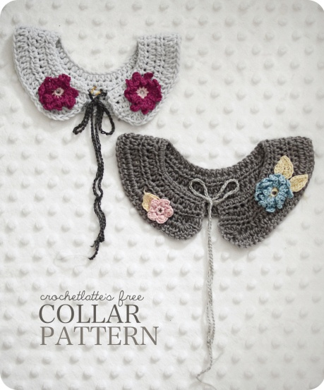 crochet: Free pattern for cute crochet collars @ crochetlatte. Delicious! Thanks so for this lovely share xox